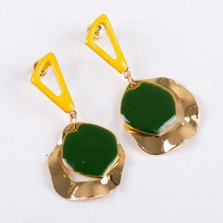 aretes-triangulo-amarillo-con-circulo-verde-dorado-7701016842891