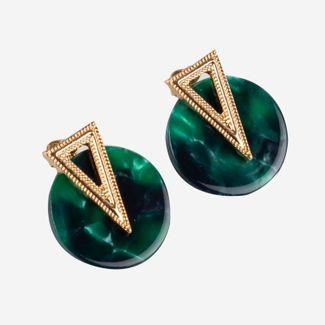 aretes-topo-circulares-verde-con-trinagulo-dorado-7701016843874