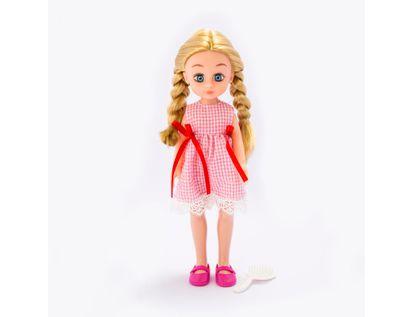 muneca-o-m-girly-de-33-5-cm-con-trenzas-y-vestido-a-cuadros-rojo-620658