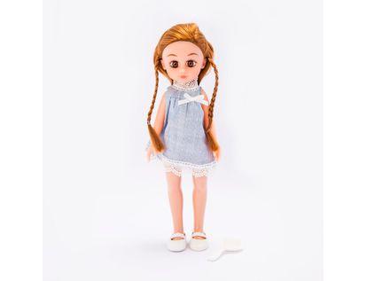 muneca-o-m-girly-de-33-5-cm-con-trenzas-y-vestido-gris-620659