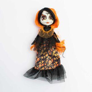 muneca-catrina-de-25-cm-con-cabello-naranja-620671