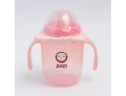 vaso-plastico-con-tapa-250-ml-transparente-rosado-620443