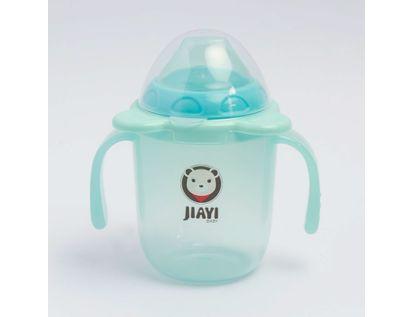 vaso-plastico-con-tapa-250-ml-transparente-azul-620444