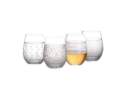 set-de-vasos-cortos-de-cristal-diseno-de-puntos-y-lineas-7701016065269