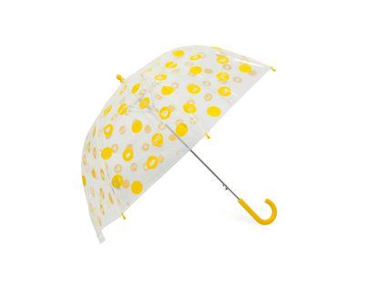 paraguas-semiautomatico-transparente-amarillo-diseno-circulos-71-5-cm-8-rayos-8424159992238