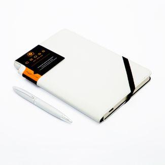 set-boligrafo-calais-cromo-agenda-blanca-cross-73228133676