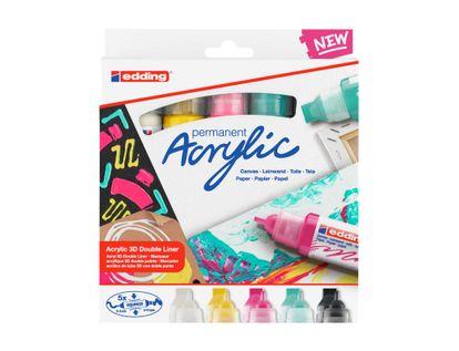 set-de-marcadores-acrilicos-doble-punta-x-5-unidades-squeeze-edding-4057305030993