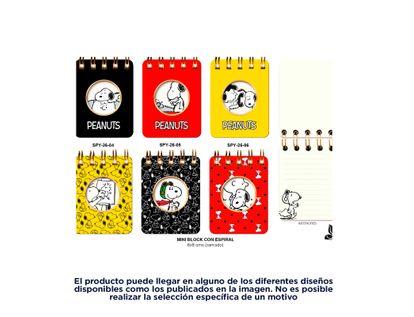 libreta-mini-snoopy-80-hojas-argollado-surtido--6971263701345