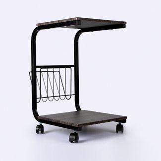 mesa-auxiliar-negra-de-2-niveles-con-ruedas-y-revistero-7701016096928