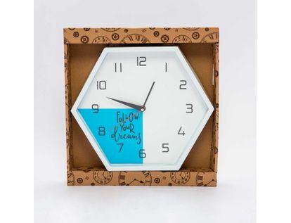 reloj-de-pared-26-cm-hexagonal-blanco-azul-con-cuerda-para-colgar-6034183014022