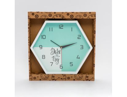 reloj-de-pared-26-cm-hexagonal-blanco-verde-con-cuerda-para-colgar-6034183014046