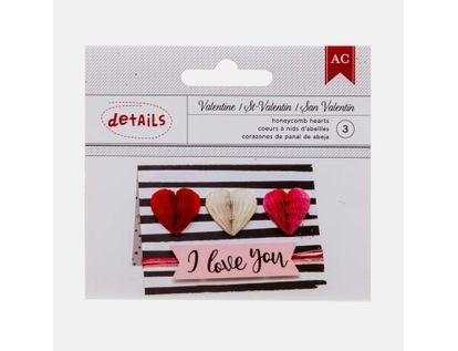 corazon-panal-de-abeja-x-3-unidades-san-valentin-718813746601
