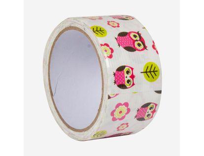 cinta-multiusos-48mm-diseno-buhos-rosados-flore-y-hojas-x-10m-7701016236676