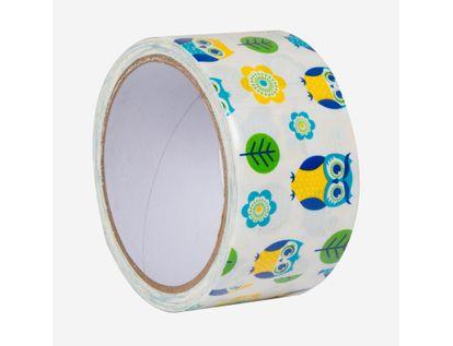 cinta-multiusos-48mm-diseno-buhos-azules-amarillo-flore-y-hojas-x-10m-7701016236683