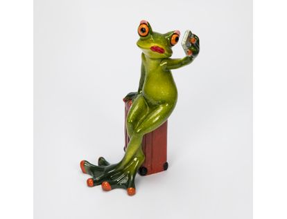 figura-15-cm-rana-con-celular-y-maleta-verde-rojo-7701016158978