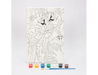 kit-de-arte-acrilico-x9-piezas-con-lienzo-diseno-guacamayas-7701016107105