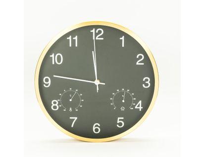 reloj-de-pared-30-5cm-con-medidor-temperatura-y-humedad-diseno-redondo-champagne-y-negro-7701016140188