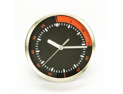 reloj-de-pared-15-3cm-diseno-redondo-tacometro-plateado-negro-y-rojo-7701016140270
