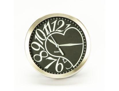 reloj-de-pared-15-3cm-diseno-redondo-corazon-plateado-y-negro-7701016140294