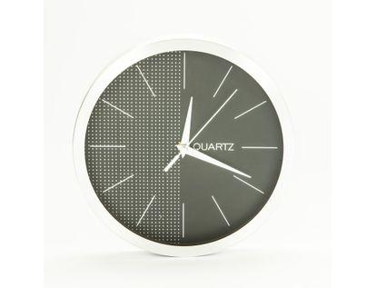 reloj-de-pared-25-5cm-diseno-redondo-puntos-plateado-y-negro-7701016140324