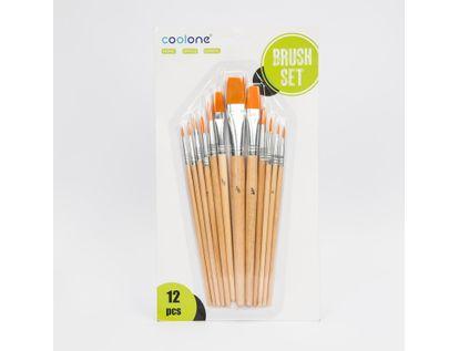 set-de-pinceles-planos-x-12-unidades-nylon-natural-7701016107358