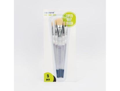 set-de-pinceles-planos-x-5-unidades-nylon-con-mango-blanco-azul-7701016107389