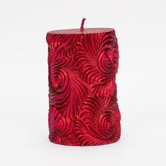 vela-navidena-de-10-5-diseno-relieve-espiral-rojo-7701016147149