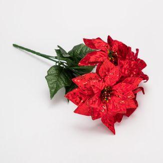 poinsettias-rojas-metalizadas-con-hojas-verdes-de-36-cm-7701016164672