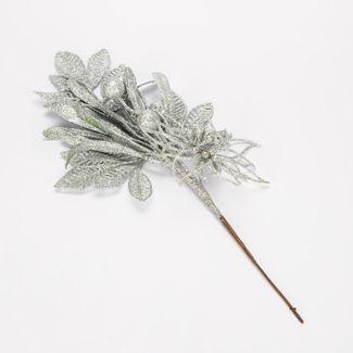 rama-de-44-cm-hojas-esferas-flor-plateada-escarchada-7701016166348
