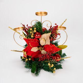 candelabro-de-37-5-cm-con-3-portavelas-esferas-y-poinsettia-roja-beige-7701016166553