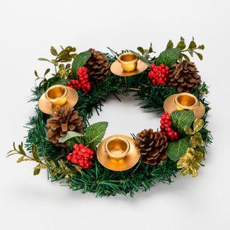 candelabro-circular-de-25-cm-con-4-portavelas-pinas-y-frutos-rojos-7701016166720