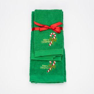 juego-de-toallas-2-piezas-30x45-40x65cm-diseno-baston-verde-7702995729142