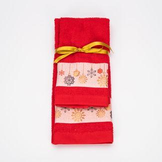 juego-de-toallas-2-piezas-30x45-40x65cm-diseno-copos-de-nieve-rojo-7702995729159