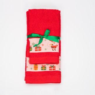juego-de-toallas-2-piezas-30x45-40x65cm-diseno-papa-noel-regalos-y-arbol-de-navidad-rojo-7702995729166