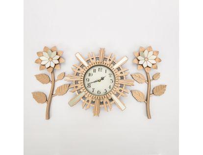 set-reloj-de-pared-39cm-sol-con-flores-oro-rosa-7701016124713