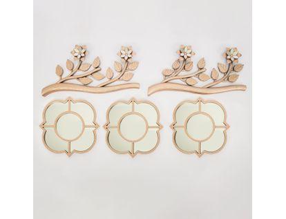 set-x3-espejos-de-pared-25cm-con-ramas-oro-rosa-7701016124942