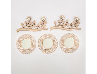 set-x3-espejos-de-pared-25cm-circular-con-ramas-oro-rosa-7701016124959