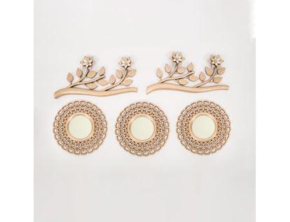 set-x3-espejos-de-pared-25cm-eslabones-con-ramas-oro-rosa-7701016124966