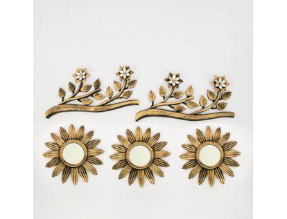 set-x3-espejos-de-pared-25cm-flores-con-ramas-dorado-y-negro-7701016124997