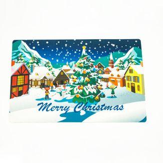 tapete-navideno-37-5x57-5cm-diseno-villa-con-hombre-de-nieve-merry-christmas-625959
