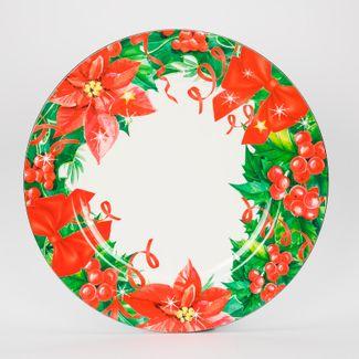 plato-navideno-circular-33-cm-diseno-poinsettias-y-frutos-rojos-7701016112789