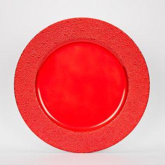 plato-navideno-rojo-33-cm-circular-con-puntos-7701016186575
