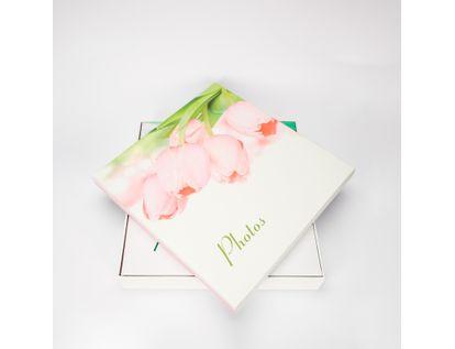 album-fotografico-20-hojas-blanco-diseno-tulipanes-rosados-7701016154819
