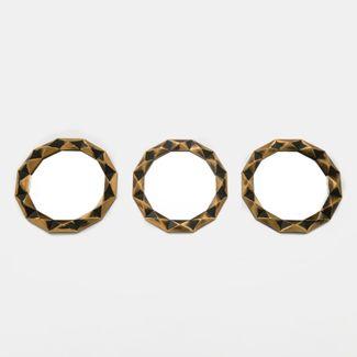 set-de-espejos-24cm-x3-unidades-circulo-tridimencional-dorado-y-negro-7701016140430
