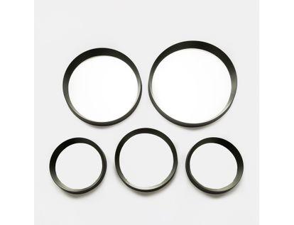 set-de-espejos-x5-piezas-circulos-negro-7701016140553