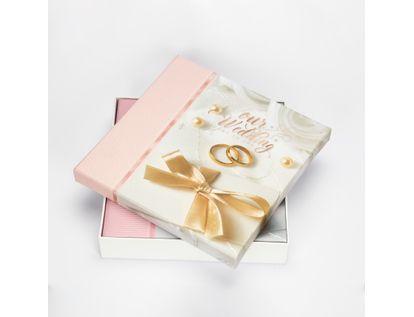 album-fotografico-25-5x25cm-20hojas-diseno-our-wedding-rosado-y-blanco-7701016155304