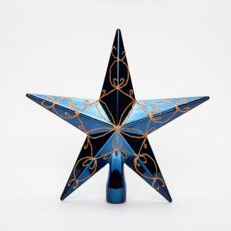 punta-de-arbol-20cm-estrella-escarchada-azul-y-dorado-7701016164498