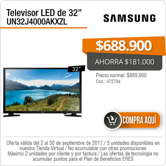 descuento LED samsung